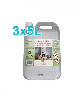 Bioetanol bioLOGIC 3X5L (2'66 €/L)
