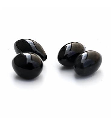 Piedras ovaladas negro brillo